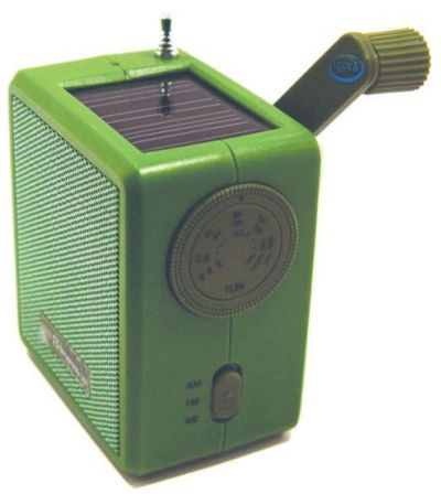 Figure 1. Kikkerland Dynamo Solar and Crank Emergency Radio, Green